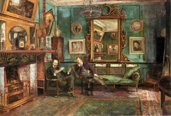 Dante Gabriel Rossetti's drawing room