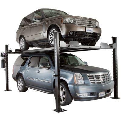FREE SHIPPING — Dannmar Equipment 4-Post Auto Lift/Storage Lift — 7000-Lb. Capacity, Model# Commander 7000