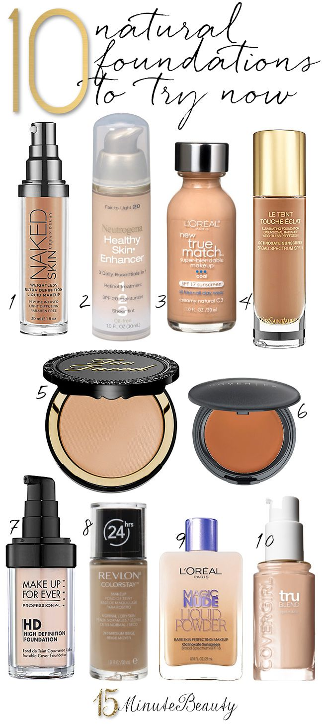 10 Best Natural Foundations feat. #CoverFX & how to apply the cream.