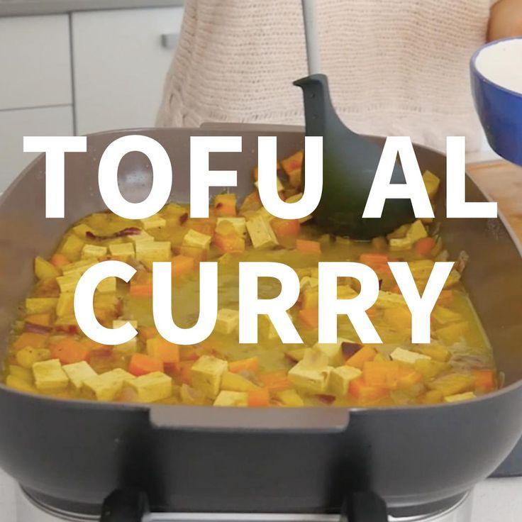 curry, leche de coco, curcuma, recetas con curcuma, recetas veganas, recetas con tofu, vegetales y tofu Vegan Dinner Recipes, Gluten Free Recipes, Healthy Recipes, Coconut Milk Recipes, Indian Curry, Superfood, Free Food, Veggies, Lunch