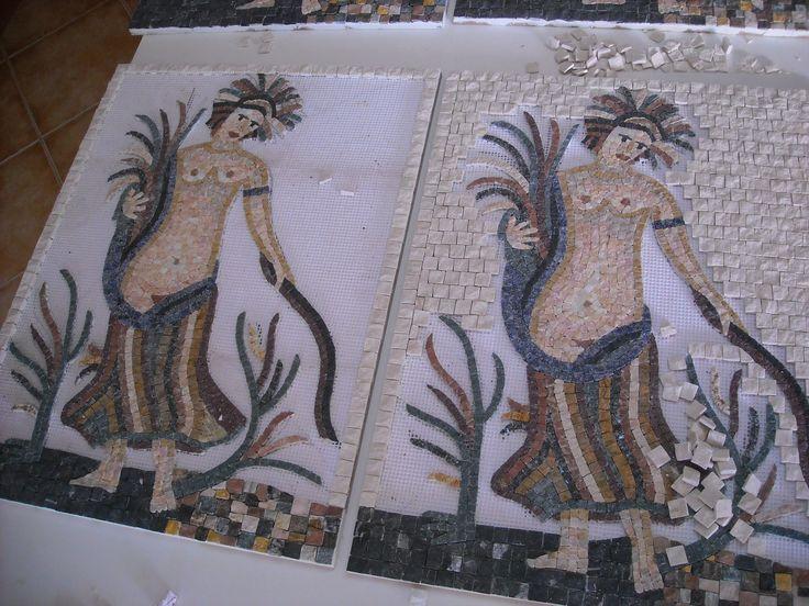 Mosaico atual usados nas lojas L`oocitane