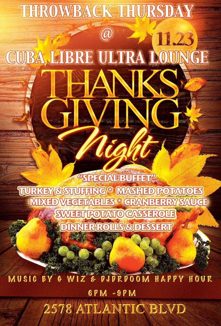 On Thanksgiving day we will be closed in the morning, BUT will OPEN at 6PM for the Throwback Thursday Thanksgiving Buffet! #ThrowbackThursday #Thanksgiving #Buffet #Stuffing