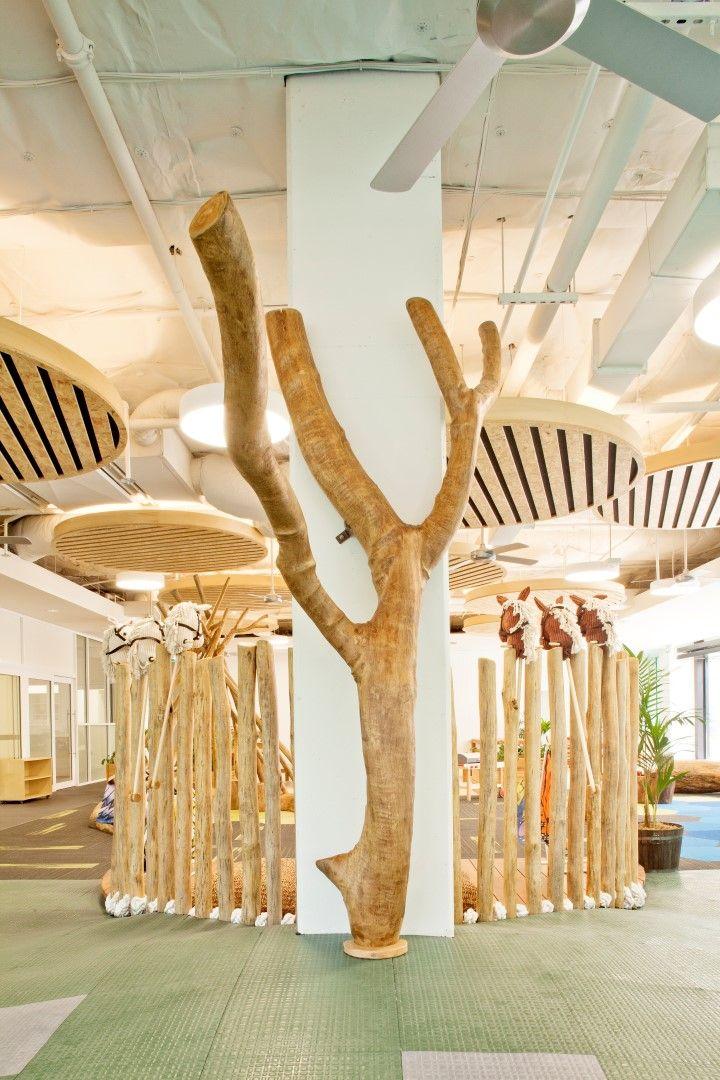 Indoor tree sculpture