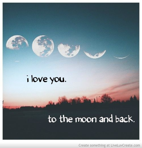 Moon Tumblr Quotes I Love You to the Moon and Back MOON ...