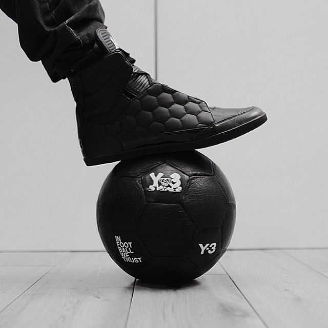 Step out in support of the Beautiful Game: The @Y-3 IN FOOTBALL WE TRUST capsule collection is now available in stores and at Y-3.com. #adidas #Y3