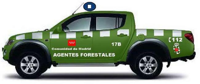 "Coche todoterreno ""pick-up"" del Cuerpo de Agentes Forestales"
