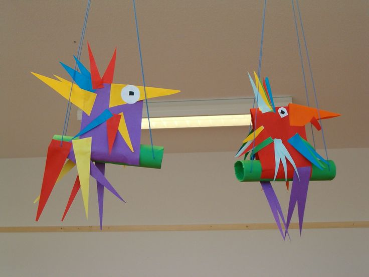 Papegaai knutselen van papier