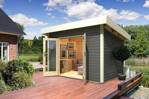 Modernes Pultdach Gartenhaus Pori - klein, aber sehr schick!