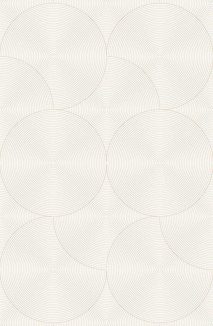 Geometric non-woven paper wallpaper CIRCLES