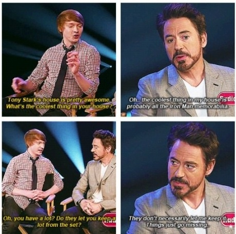 Oh, Robert Downey Jr., you scamp, you! I love this man!