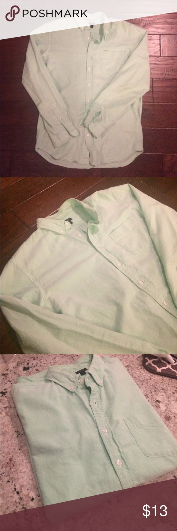 Men's J. Crew Oxford Shirt, Mint Green Men's J. Crew oxford shirt, mint green, size large tall, 100% cotton J. Crew Shirts Casual Button Down Shirts