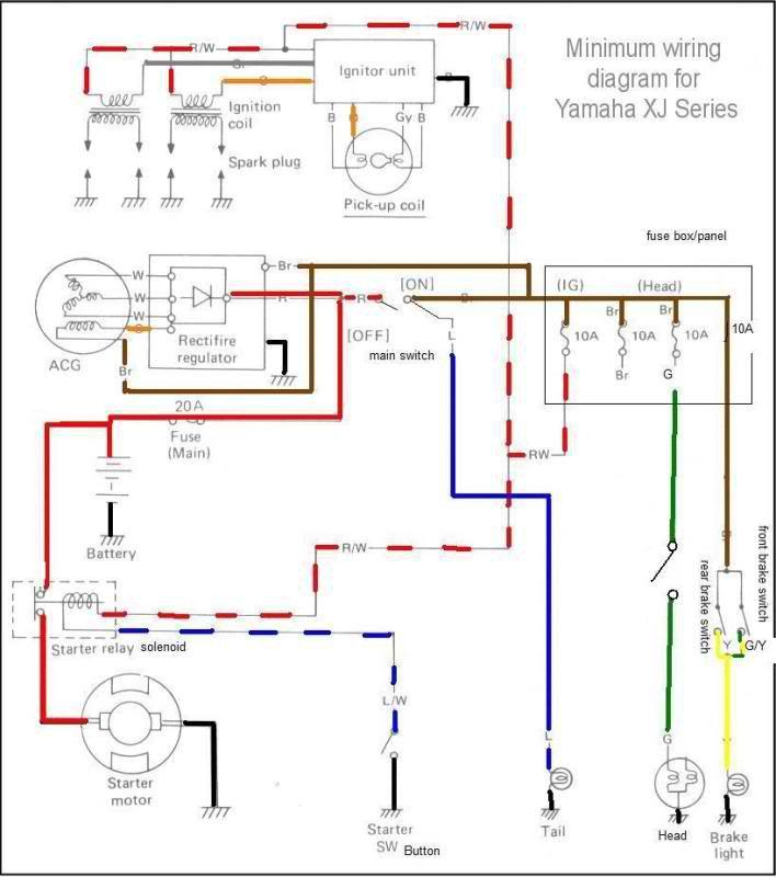 chopcult  '81 Yamaha XJ 650 Wiring Help Needed | customs