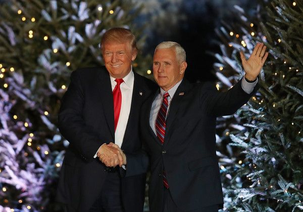 "President-elect Donald Trump and Vice President-electÊMike Pence appear together during a stop on his ""USA Thank You Tour 2016."" at the Orlando Amphitheater at the Central Florida Fairgrounds on December 16, 2016 in Orlando, Florida. President-elect Trump has been visiting several states that he won, to thank people for their support during the U.S. election."