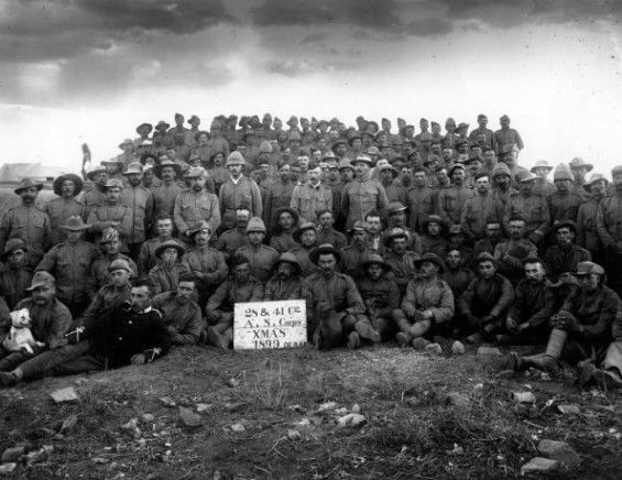 1900: Remount Depot De Aar-Christmas group in the Boer War.     - See more at: http://mentalfloss.com/article/32024/32-vintage-photos-people-having-merry-christmas#sthash.huAAvAdh.dpuf