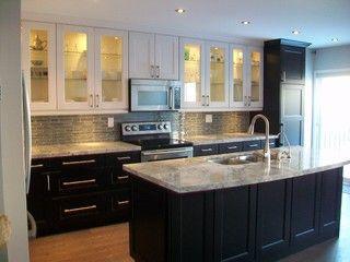 ikea kitchens ramsjo white and ramsjo black brown - Ikea Black Kitchen Cabinets