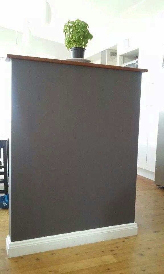 Kitchen nib wall, Dulux Raku