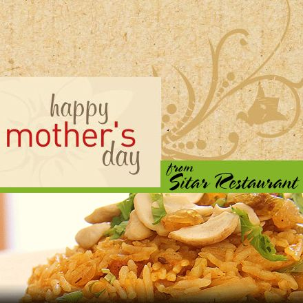 Come down to #Sitar Restaurant and celebrate Mother's Day with us. Call ahead at 203.777.3234! #HappyMothersDay #nhv