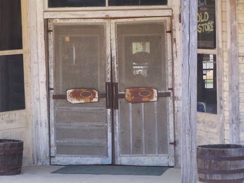 awesome old screen doors on an old general store in TX