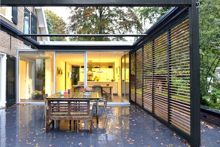 Wil bongers architectuur projecten moderne uitbouw aanbouw tuinkamer glas staal en hout - Huis roestvrij staal ...