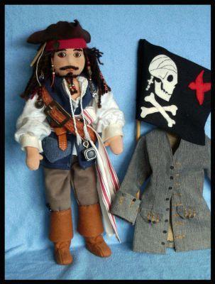Jack Sparrow by DarkDollArt. free pattern. by Sheila(R)