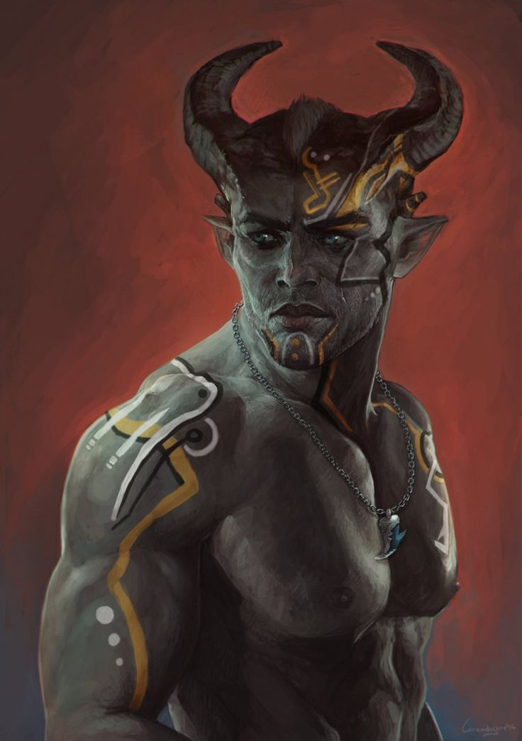 m Tiefling Barbarian portrait ar-lath-ma-vhenan:  lorandesore:  Adaar by LoranDeSore   wow