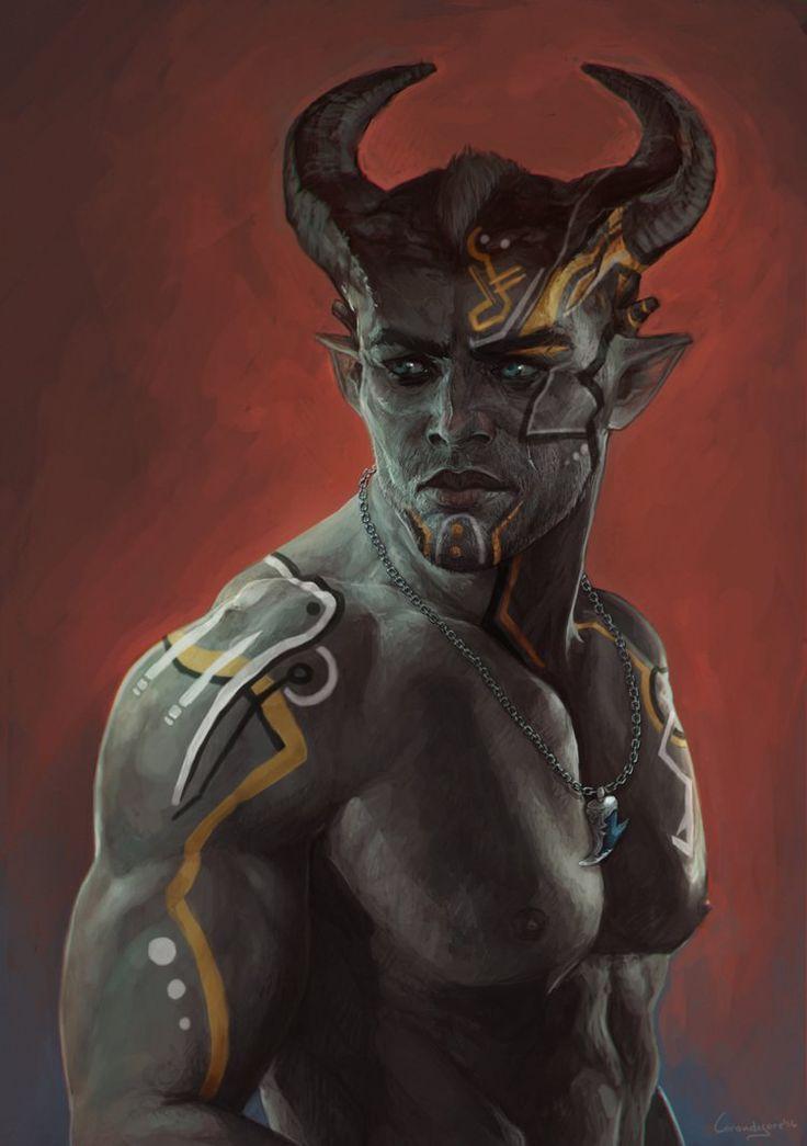 Adaar (Qunari Inquisitor from Dragon Age: Inquisition) by LoranDeSore.deviantart.com on @DeviantArt
