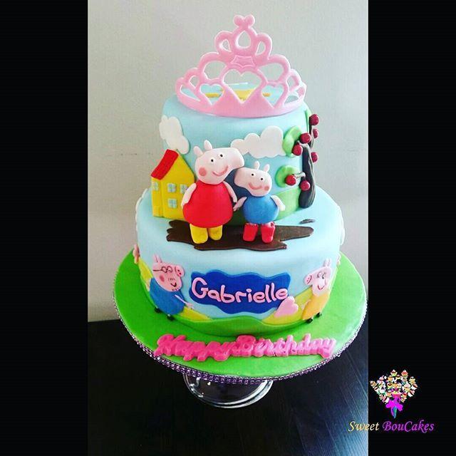 Happy Birthday Gabrielle! Peppa Pig Fan! - -  #peppapig #daddypig #george #mummypig #kidscakes #tiara #princess #cakesofinstagram #cakegram #instacake #cakestagram #bramptoncakes #brampton #gta #mississauga #sweetboucakes @swetboucakes @tanyagibson6