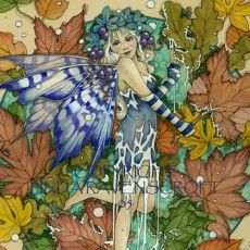 THE WINTER LEAF FAIRY by Linda Ravenscroft Fairy Myth Mythical Mystical Legend Elf Fairy Fae Wings Fantasy Elves Faries Sprite Nymph Pixie Faeries