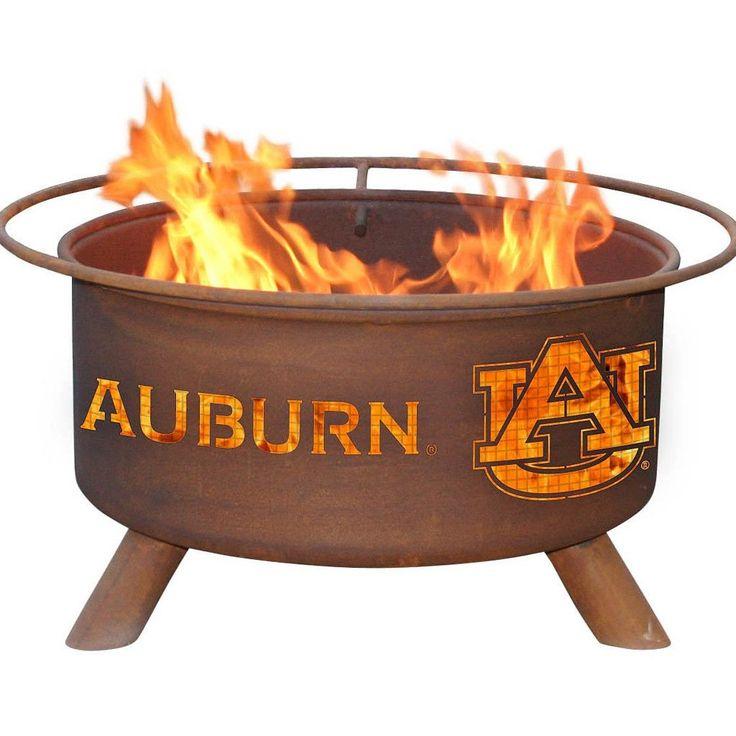 Auburn Tigers Patio Fire Pit & BBQ Grill Set