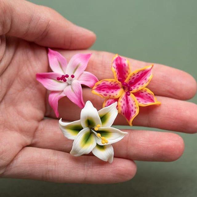craft flowers orange flowers cloth flowers earrings tropical flowers orange earrings Hawaiian flower earrings