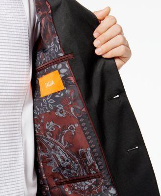 Tallia Men's Big & Tall Slim-Fit Black Sparkle Peak-Lapel Dinner Jacket - Black 54XL