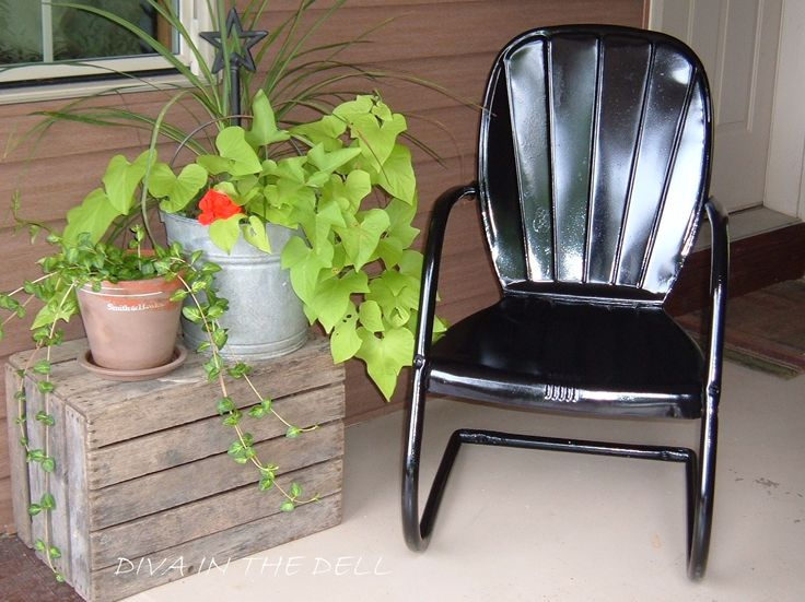 vintage metal bounce chair for sale vintage metal bouncy chairs and patio furniture. Black Bedroom Furniture Sets. Home Design Ideas