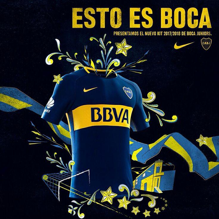 Camiseta macht 2017/2018 Boca Juniors 💙💛💙 Esto Es Boca!!!