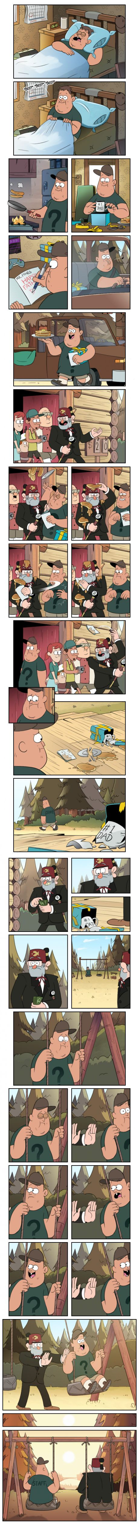 Father figure Gravity Falls fans ic by Markmak