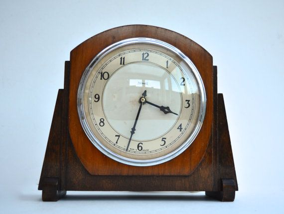 1930s Ferranti Electric Clock Mantel Clock Art Deco by FillyGumbo
