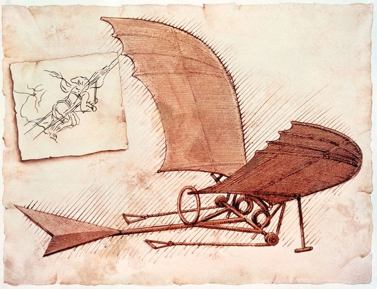 Leonardo da Vinci's Flying Machine that was found in one of his notebooks.