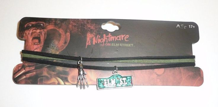 A Nightmare On Elm Street Necklace Choker Set Sign Claws Horror Freddy Krueger  #SGatNYC