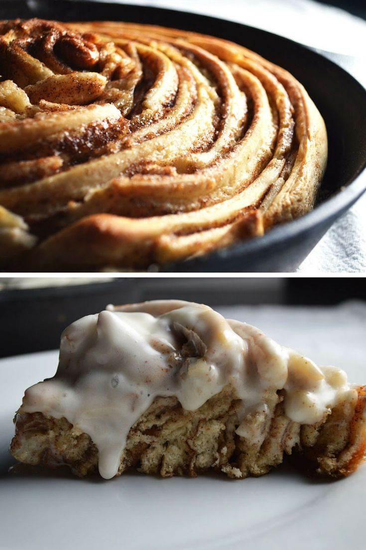 What's Better than a Giant Skillet Cinnamon Roll? // Love Laugh Cook