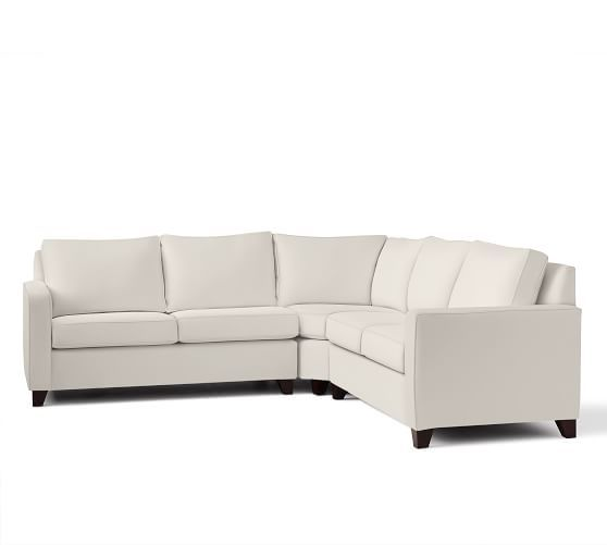 Review Cameron Square Arm Upholstered 3 Piece L Shaped Sectional with Wedge - Luxury square sectional sofa Beautiful