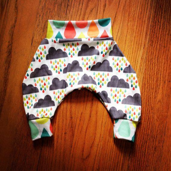 Modern Baby Harem Pants Baby lounge pants baby MC par HazelandHolly