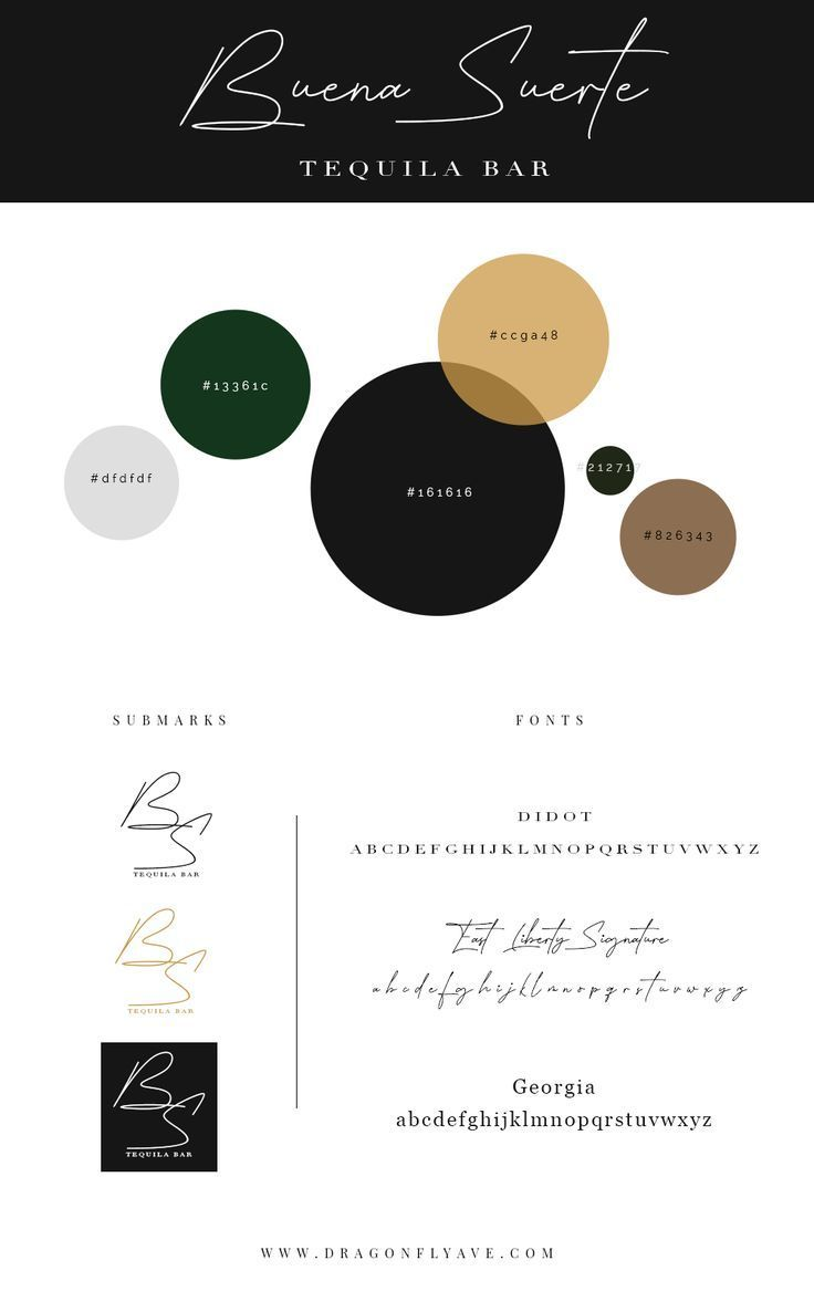 Buena Suerte Brand Web Design Dragonfly Ave In 2020 Website Color Palette Website Color Schemes Black Color Palette