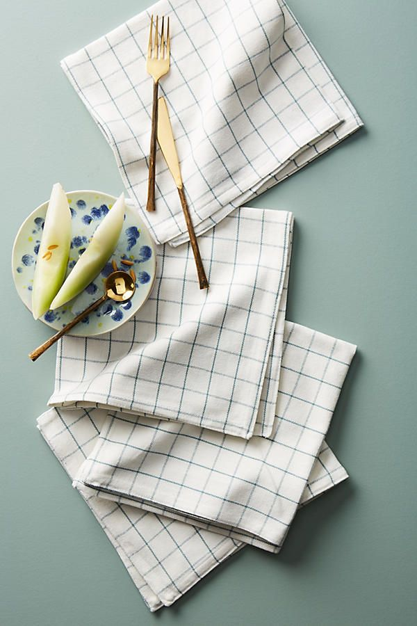 Slide View: 1: Soho Home Country House Checked Dinner Napkin Set