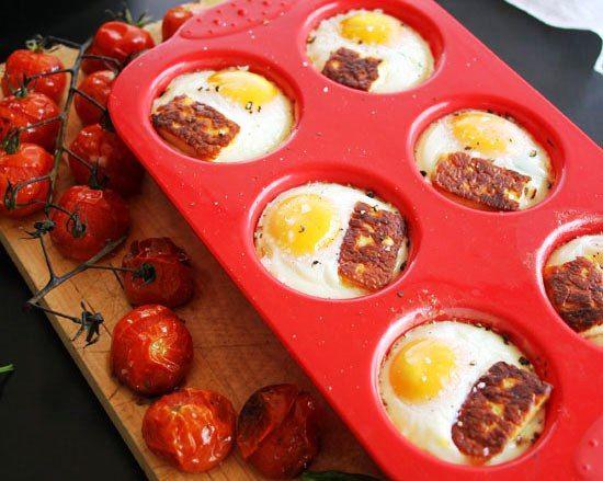 pečená vejce, pečená vajíčka, volské oko jinak,,, návod, recept, recepty, on-line kuchařka, rychlá večeře