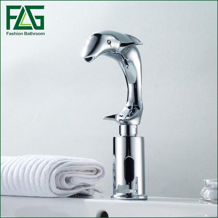 FLG Dolphin Design Automatic Taps Automatic Sensor Faucet Automatic Hand Wash Basin Sensor Tap Faucet #Affiliate