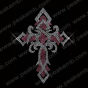 Crystal Cross Iron On Rhinestone Transfer Wholesale