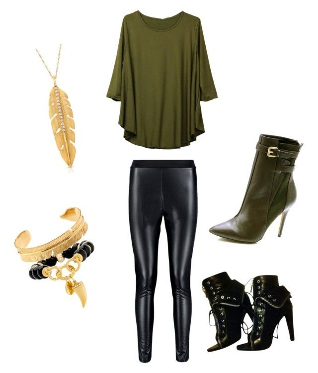 """""""casual olive"""" by lisreyna on Polyvore featuring Alexander Wang, Charles by Charles David, Henri Bendel and Marte Frisnes"""