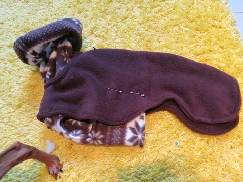 Double layered polar fleece jacket — Italian Greyhound Clothing Tutorials