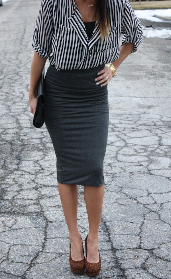 The skirt length is still classy and perfect to wear for professional occasions