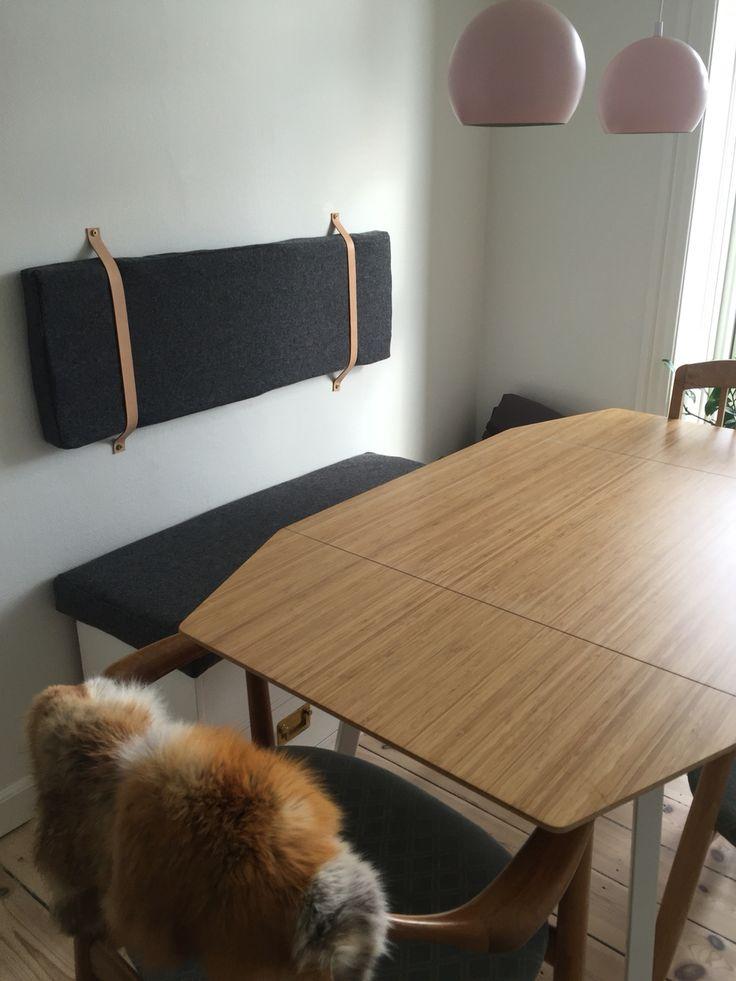 I did it! #leather #dinningroom