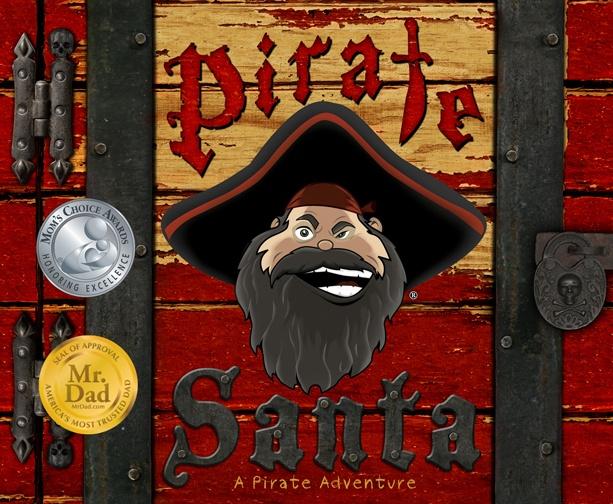 Cover of Pirate Santa. Award winning Children's storybook. www.piratesanta.com